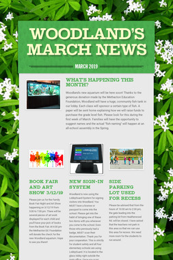 Woodland's March News