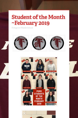 Student of the Month ~February 2019