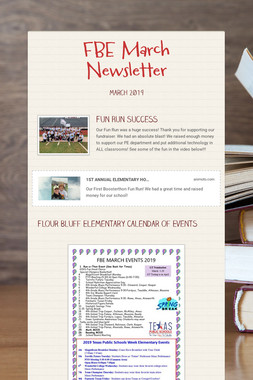 FBE March Newsletter