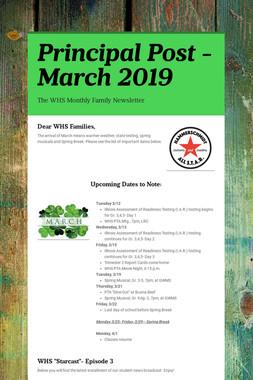 Principal Post -March 2019