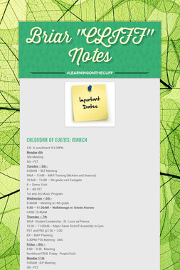 "Briar ""CLIFF"" Notes"