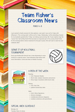 Team Fisher's Classroom News