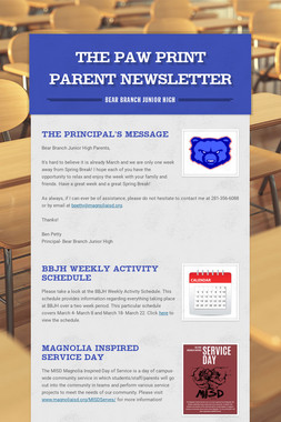 The Paw Print Parent Newsletter