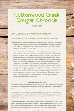 Cottonwood Creek Cougar Chronicle