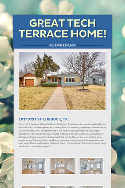Great Tech Terrace Home!