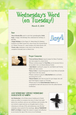 Wednesday's Word (on Tuesday!)