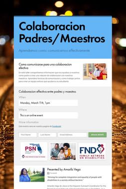 Colaboracion Padres/Maestros