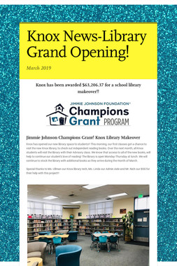 Knox News-Library Grand Opening!