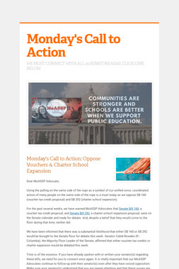 Monday's Call to Action
