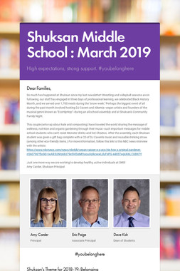 Shuksan Middle School : March 2019