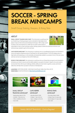 SOCCER - SPRING BREAK MINICAMPS