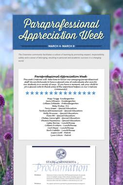 Paraprofessional Appreciation Week