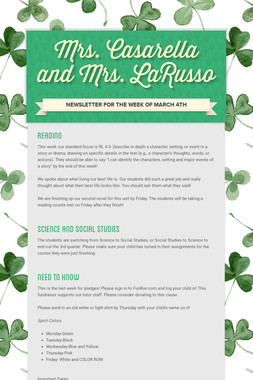 Mrs. Casarella and Mrs. LaRusso