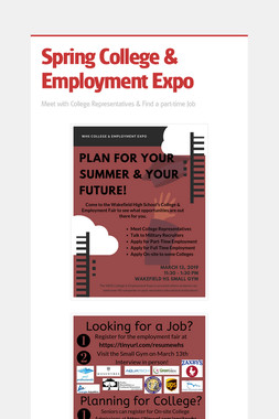 Spring College & Employment Expo