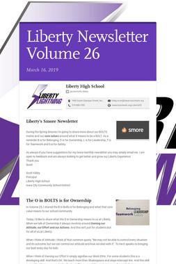 Liberty Newsletter Volume 26