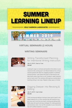 Summer Learning Lineup