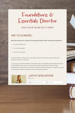 Foundations & Essentials Director
