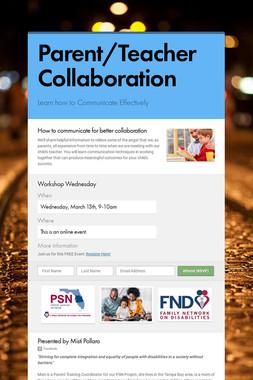 Parent/Teacher Collaboration