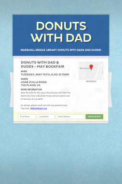 Save the Date  Donuts with Dad