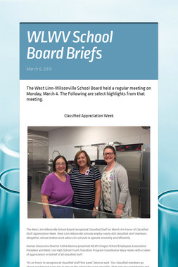 WLWV School Board Briefs