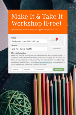 Make It & Take It Workshop (Free)