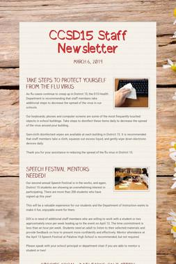 CCSD15 Staff Newsletter