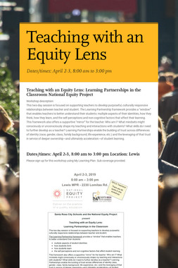 Teaching with an Equity Lens