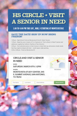 HS Circle + Visit a Senior in Need