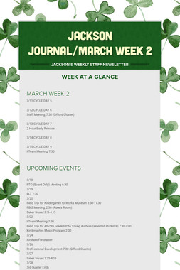 JACKSON JOURNAL/MARCH WEEK 2