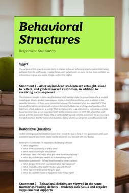 Behavioral Structures