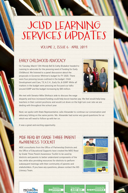 JCISD LEARNING SERVICES UPDATES