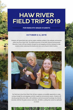 Haw River Field Trip 2019