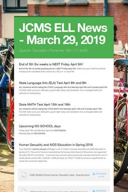 JCMS ELL News - March 29, 2019