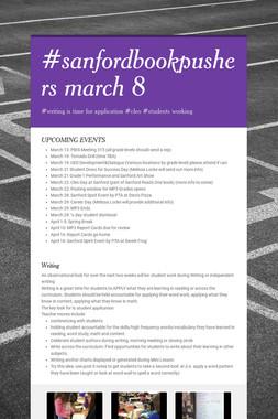 #sanfordbookpushers march 8