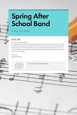 Spring After School Band