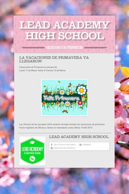 LEAD Academy High school