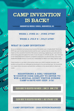 Camp Invention is BACK!!