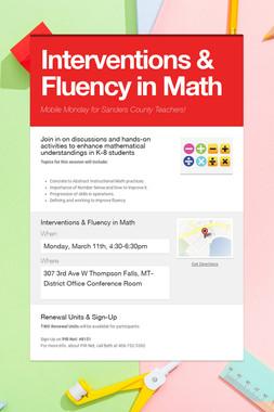 Interventions & Fluency in Math