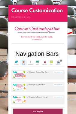 Course Customization