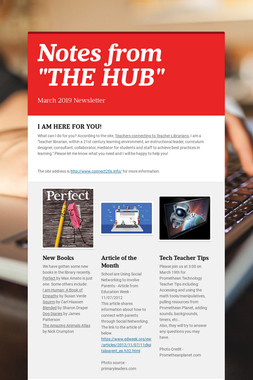 """Notes from """"THE HUB"""""""