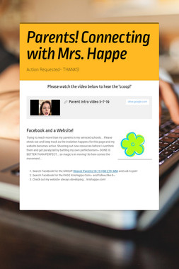 Parents! Connecting with Mrs. Happe