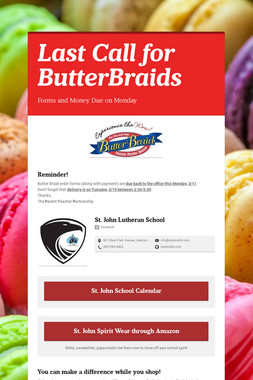 Last Call for ButterBraids