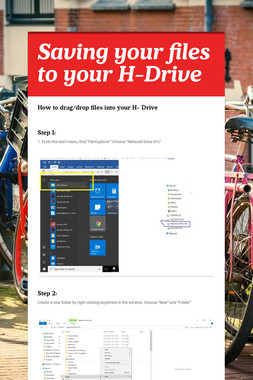 Saving your files to your H-Drive
