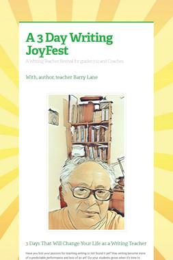 A 3 Day Writing JoyFest