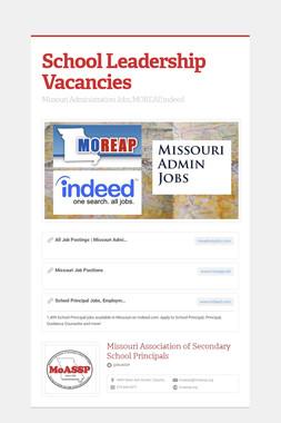 School Leadership Vacancies