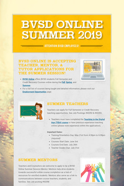 BVSD Online Summer 2019