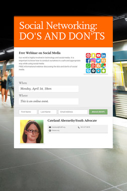 Social Networking: DO'S AND DON'TS