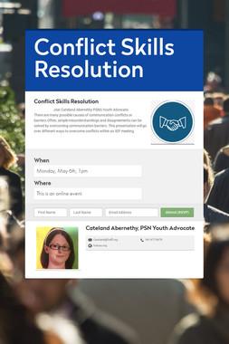 Conflict Skills Resolution
