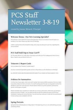 PCS Staff Newsletter 3-8-19