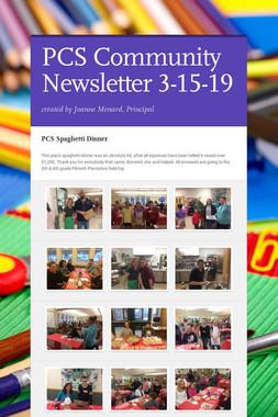 PCS Community Newsletter 3-15-19